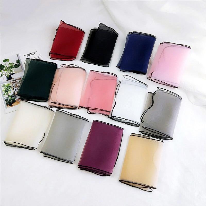 El nuevo organza de color sólido pequeño párrafo corto pañuelo - Accesorios para la ropa - foto 2