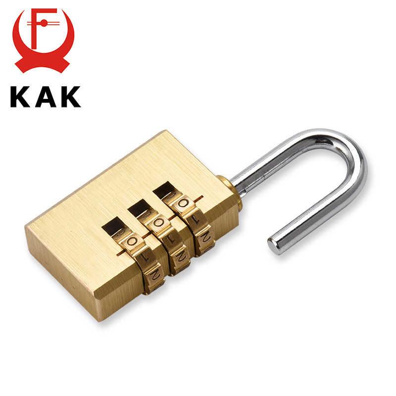 KAK solide en laiton cuivre sécurité cadenas mot de passe combinaison Code serrure pour Gym numérique casier valise tiroir serrure matériel