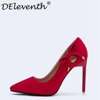 DEleventh Fashion Design Women S High Heel Pumps Spring Bowtie Nightclub Wedding Party Dress Woman Shoes