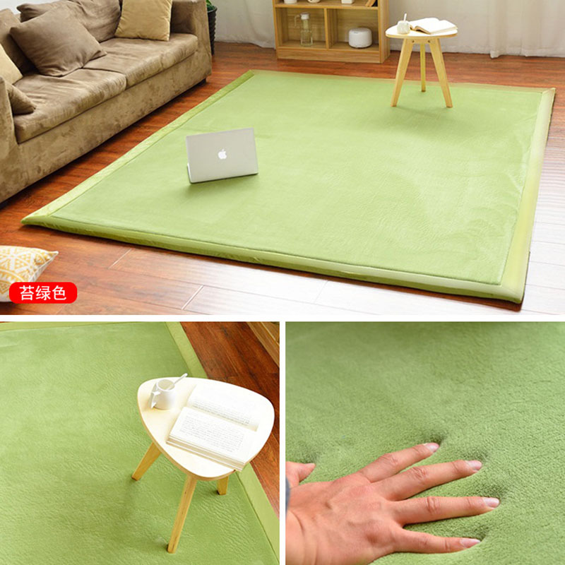 Hot Sale 2Meters Wide8 SizeCoral Fleece Crawling Mat Coral Floor Carpet Anti Slip Kitchen Carpets Living Room Mats