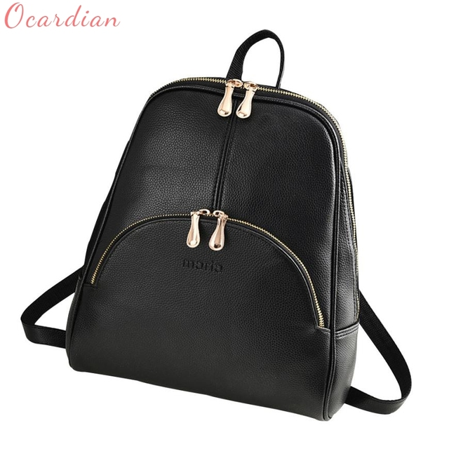 0c2852133761 Women Backpack Leather Backpacks Softback Bags Brand Name Bag Preppy Style  Bag Casual Backpacks Teenagers Backpack Sac SEP29