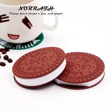Office School Supplies - Notebooks  - NORRATH Kawaii Cute Stationery Convenient Notebook Chocolate Cookies Memo Pad Office School Gift Supplies Notepad