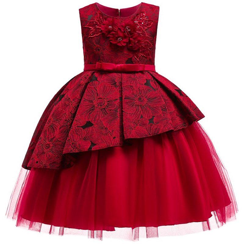 Kids <font><b>Dresses</b></font> for Girls Boutique Wedding <font><b>Party</b></font> Flower Girls New Years Eve <font><b>Dress</b></font> Thanksgiving Toddler Clothes Kids Christmas <font><b>Dress</b></font> image