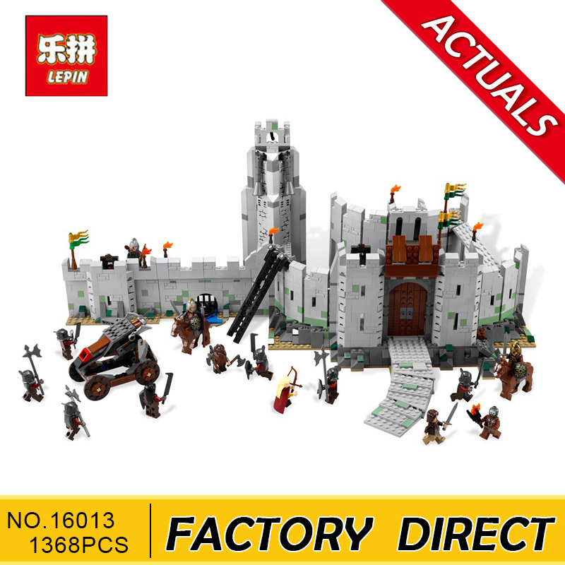 Lepin 16013 1368pcs Movie Series Lord of the Rings Battle Of Helm' Deep Model Building Blocks Bricks for Children Toys