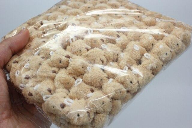 10pc 4colors 4.0cm mini Joint Teddy Bear Plush Stuffed Wedding BOX toy doll Garment & Hair Accessories decor doll Uncategorized Decoration Kid's Toys Stuffed & Plush Toys Toys