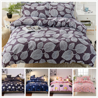 2018 New Fashion Spring Autumn Soft Cotton Bedding Set Kids Bed Linens Single Full Twin Queen King Size Duvet Cover 1.5m 1.8m 2m