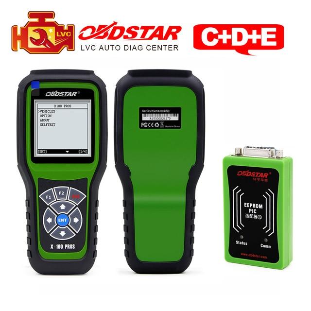 OBDStar X-100 Pros C D E OBD2 Auto Key Programmer + Odometer correction tool + OBDII diagnostic tool  x100 C+D+eeprom