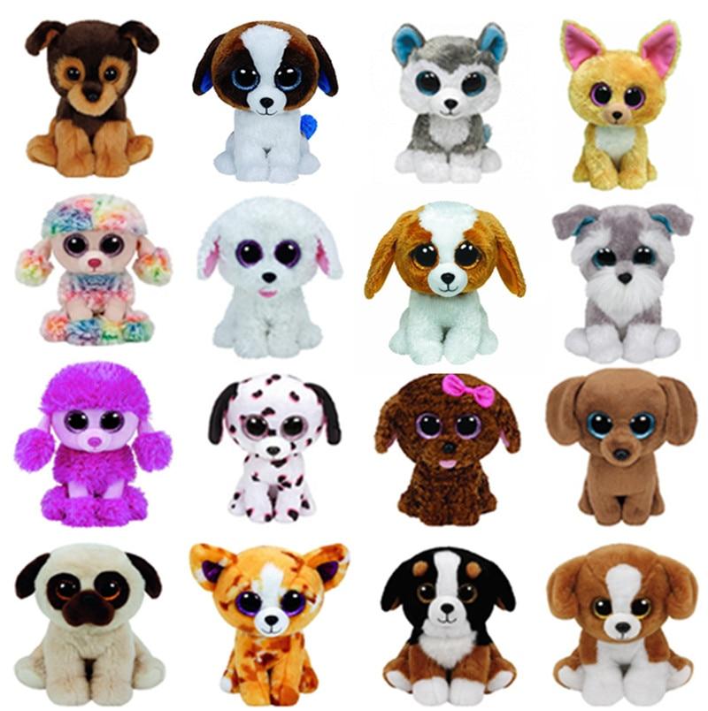 TY Beanie Boos Plush Animals Big Eyes Dog Husky Slush Whiskers Schnauzer Duke Dougie Dachshund Dalmatians  Maddie Pippie Cookie soccer balls size 4