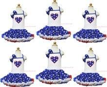 1-й 2-й 4-го июля день рождения белый холтер отечественная звезда в форме сердца платье 1-8Y MAPSA0626