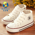 2017 brand design new casual Classic star high zipper lace up flat canvas toddle school casual shoes Boy girls Children sneakers