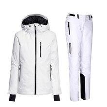 Zima kobiet ubiory narciarskie kobiet panie utrzymać ciepłe kurtki skiwear narciarski snowboard kurtka i spodnie garnitur kobiet
