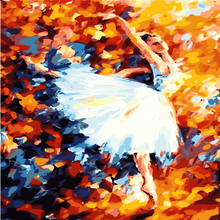Ballet Dancing Picture Painting By Numbers Modern Dancer Wall Art DIY Hand Painted Canvas Coloring Home Decor 2017 Cheap