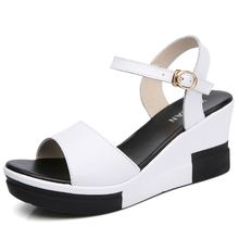 MIUBU Summer Korean Muffin Fish Head Women Sandals With Platform Sandals Wild Simple Shoes Shook With Students In стоимость