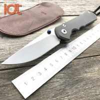 LDT Sebenza 25 cuchillos plegables Inkosi CPM S35VN Blade TC4 mango de titanio caza táctico cuchillo de bolsillo cuchillo de supervivencia herramientas EDC