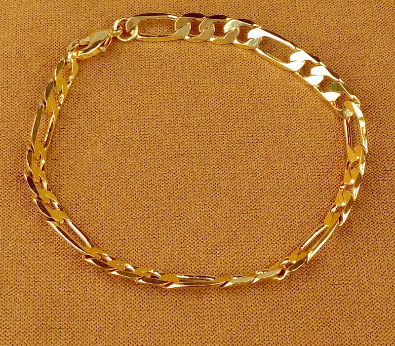 Ebay Mens American Jewelry 24 Carat Gold Bracelet Men S And Women