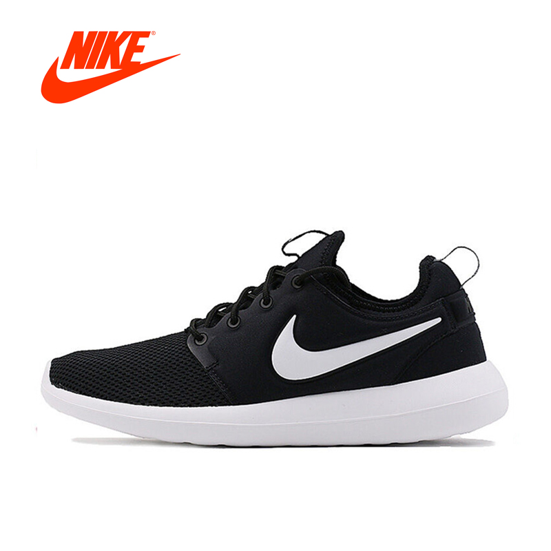 Original NIKE Breathable ROSHE TWO Mens Running Shoes Sports Sneakers Mesh Brand Design Athletic Outdoor Good Quality