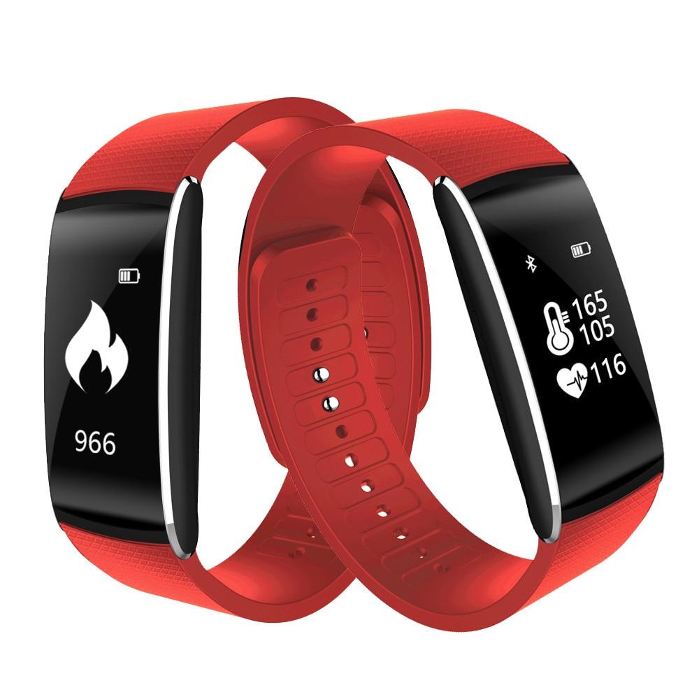 Bluetooth C1 Plus Kolor LCD Inteligentna bransoletka Tlen krwi - Męskie zegarki - Zdjęcie 1