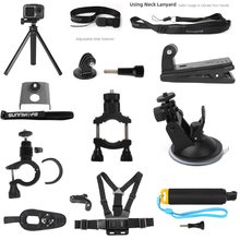 Sunnylife Tripod Extension Rod Bicycle Clamp Backpack Mount Extending Adapter Neck srap Accessories Parts for DJI OSMO ACTION