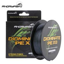 ANGRYFISH Diominate PE X8 Fishing Line 500M/547YDS 8 Strands Braided Multifilament Black