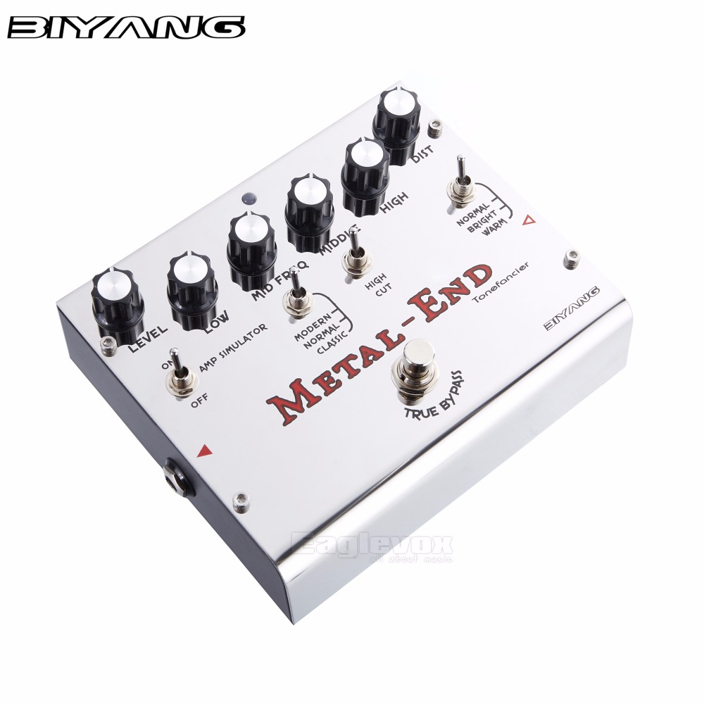 biyang metal end guitar effect pedal effects stompbox for electric guitar give more choice for. Black Bedroom Furniture Sets. Home Design Ideas