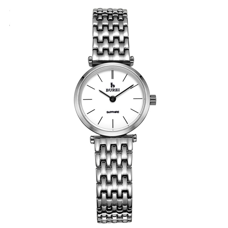 BUREI 3007 Switzerland watch women luxury brand La Grande Classique series lovers sapphire silver relogio masculino feminino