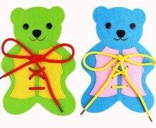 Фотография ZY DIY Beautiful 3 Colors Kids Early Learning Numbers Children handmade Bear Nonwoven DIY Felt Fabric