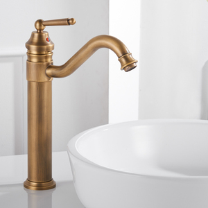 Image 4 - Basin Faucets Gold Plated Deck Mounted Bathroom Faucets Brass Bathroom Taps Mixer Crane Torneira Single Handle Faucet 6633