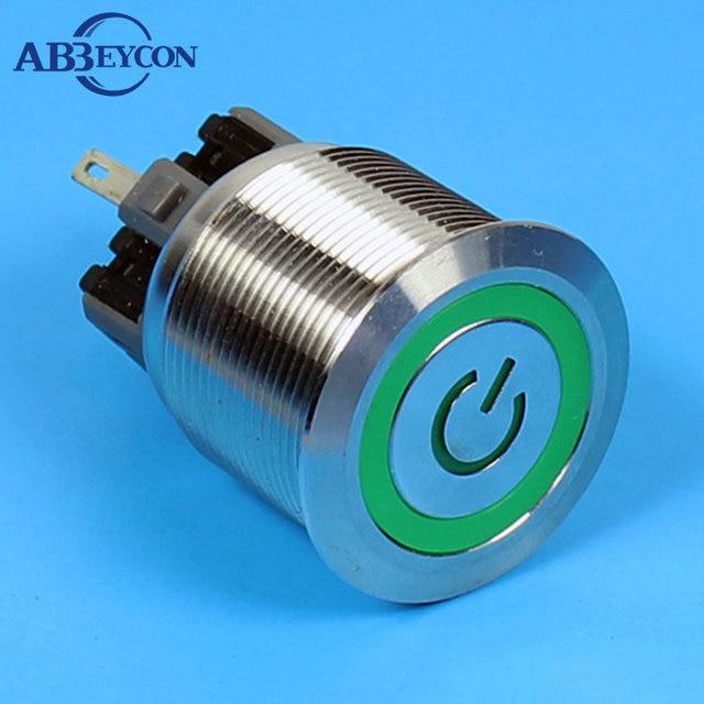 set126 25mm illuminated ringpower symbol led machine button with - anti vandal  switch wiring diagram led