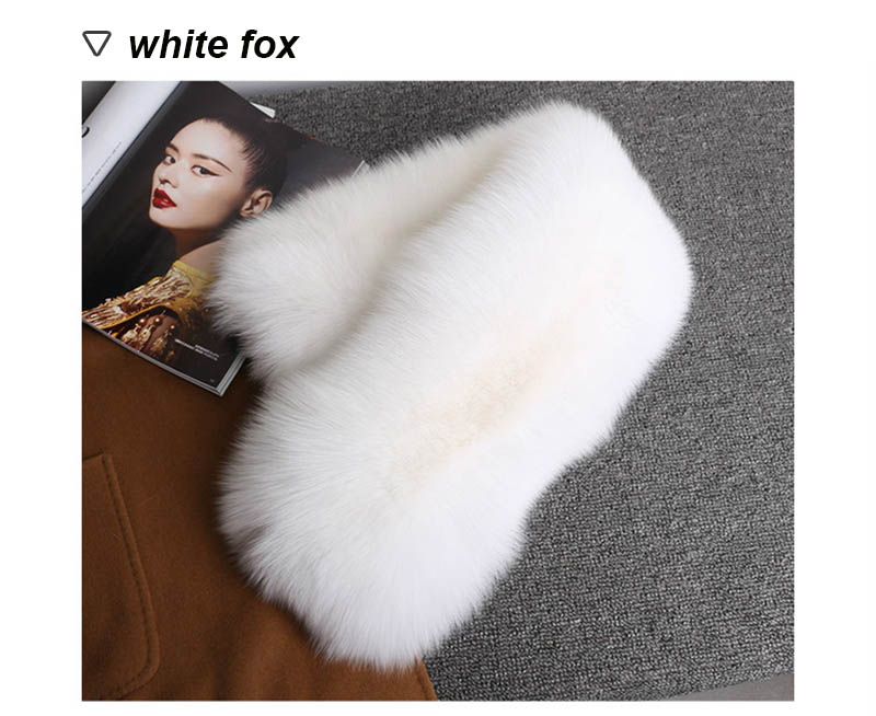 fox fur scarf silver fox 7