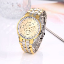 Mens Relojes de Primeras Marcas de Lujo Reloj de Oro Reloj de Los Hombres de Moda Relojes de Los Hombres Reloj de Acero Completo relogio masculino reloj saat hombre