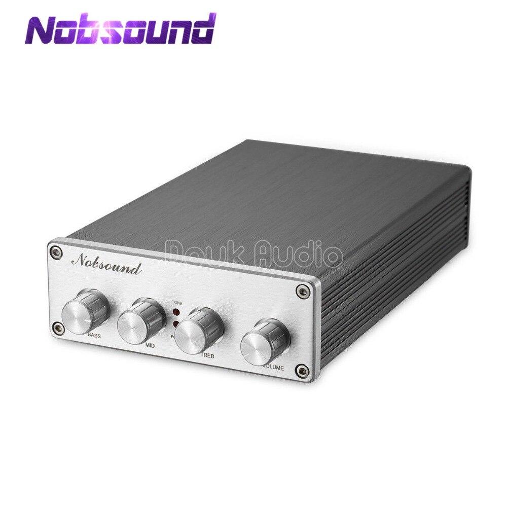 Nobsound HiFi Preamplifier Audio Pre Amp Treble Middle Bass Tone Controller NE5532 2 OPA2604 LME49720 TDA8920