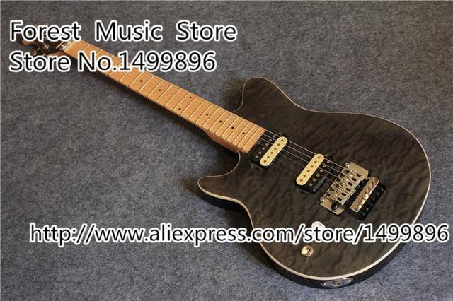 סין מותאם אישית חנות Dard גריי צמר שמאלי Suneye Musicman AX40 חשמלי גיטרות משלוח חינם