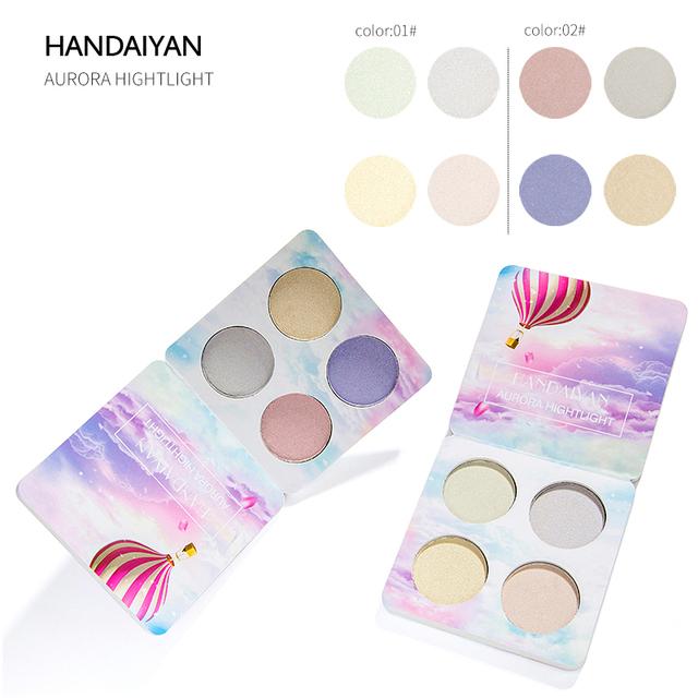 HANDAIYAN Chameleon Highlighter Palette Makeup Powder Glow Kit Iluminador Maquiagem Shimmer Shining Face Brighten Highlighter