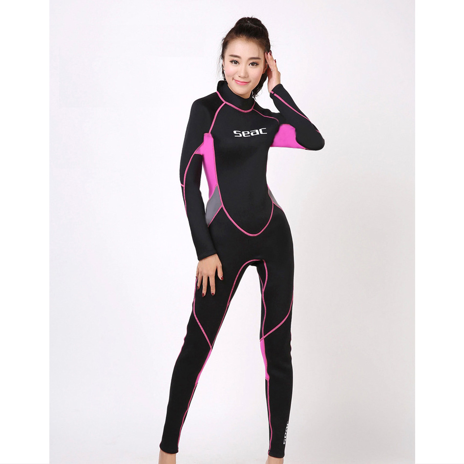3mm Neoprene Wetsuit Women's Wet Suits Diving Suit Pink Black size XS S M L XL XXL Suits for Surfing Diving Snorkelling Lady adjustable pro safety equestrian horse riding vest eva padded body protector s m l xl xxl for men kids women camping hiking
