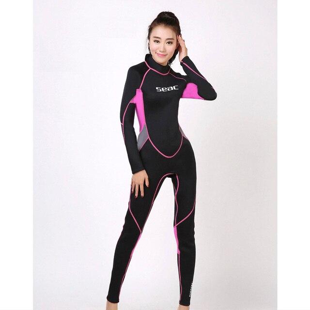 3mm Neoprene Wetsuit Women s Wet Suits Diving Suit Pink Black size XS S M L XL  XXL Suits for Surfing Diving Snorkelling Lady 213611ea8