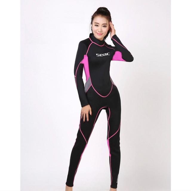 5f4939bec0d9a 3mm neoprenu nurkowania kombinezon damskie kombinezon do nurkowania mokry  kombinezon do nurkowania różowy czarny rozmiar XS
