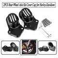 2PCS skull Rear Wheel Axle Kit Cover Cap For Harley Davidson Sportster XL 883 1200 48 2005-2016