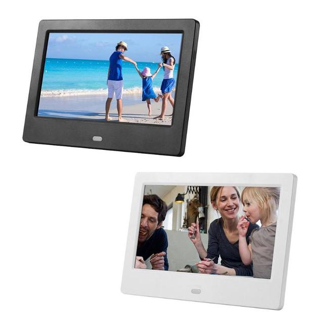 7 Inch HD LED Digital Photo Frame Electronic Photo Album MMC SD Card ...
