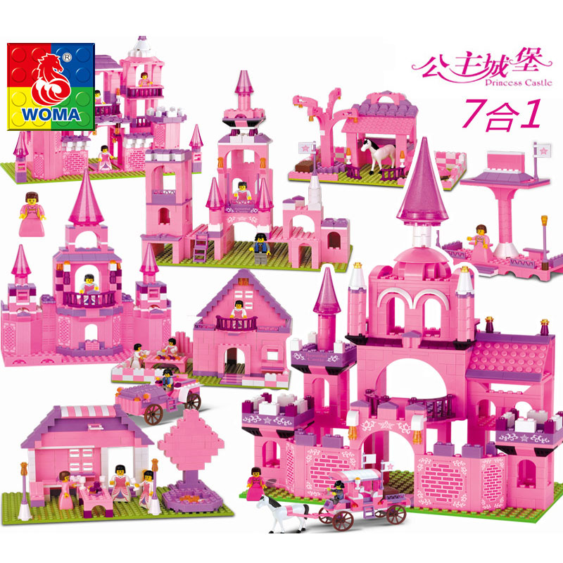friends series Building Blocks toys girls house Princess Castle villas castle car dolls compatible legoe princess elsa s magical ice castle model building blocks girls toys lepin compatible legoe friends princess kid gift set