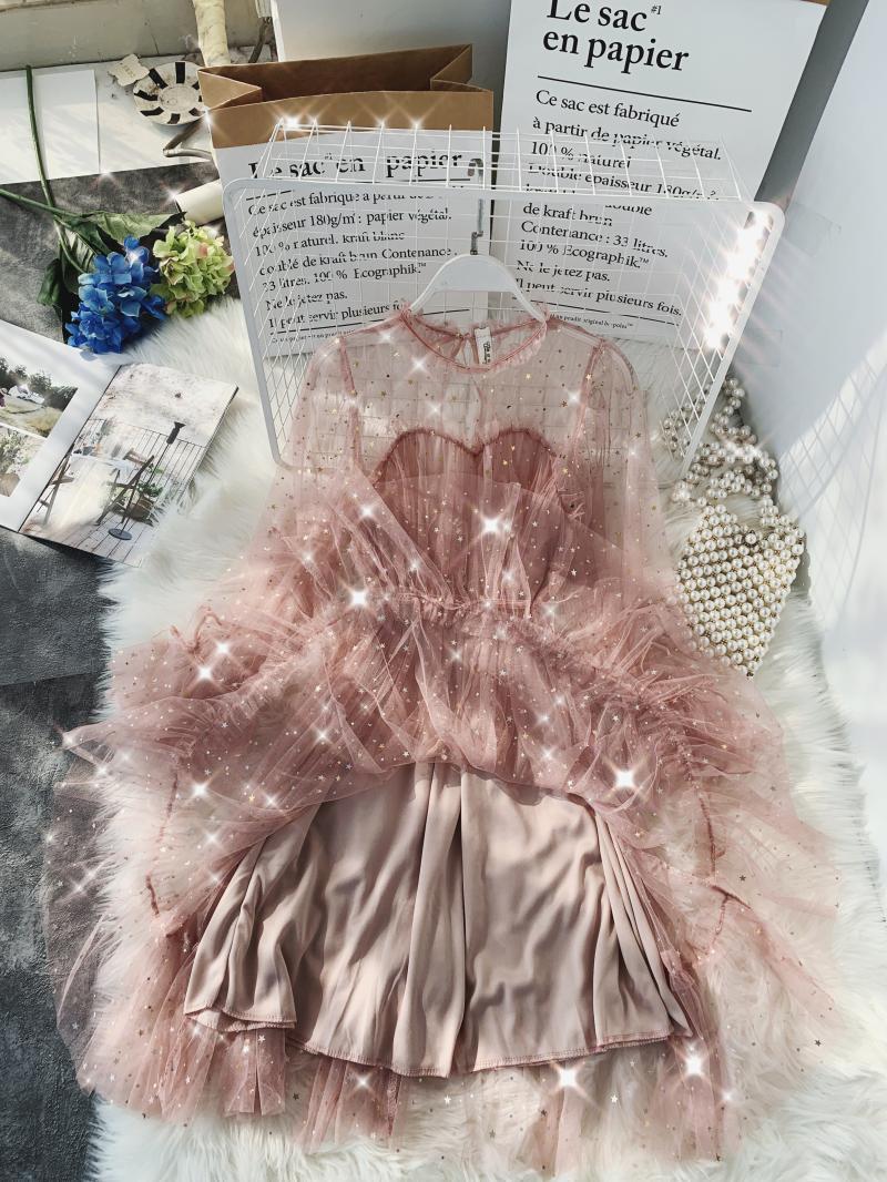 Gauze Two Piece Midi Dress 24