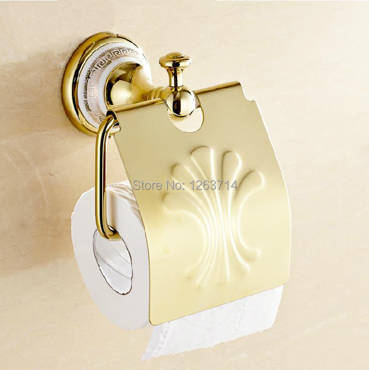 Bathroom Accessories Products Solid Brass Golden Toilet Paper Holder,Roll Holder,Tissue Holder Free Shipping  OG-27851C toilet paper holder roll holder tissue holder bathroom accessories products