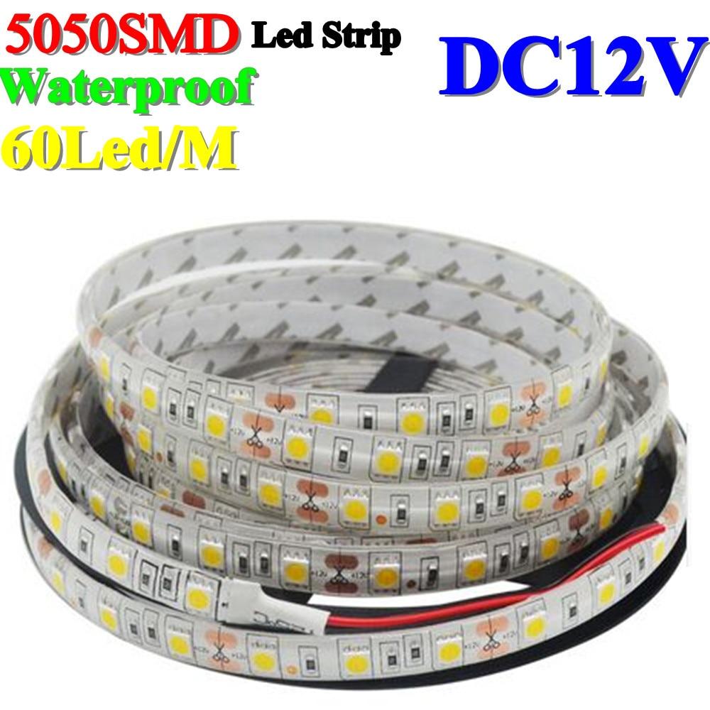 Անջրանցիկ 60Leds 5050SMD Led Strip ճկուն թեթև IP65 - LED լուսավորություն - Լուսանկար 1
