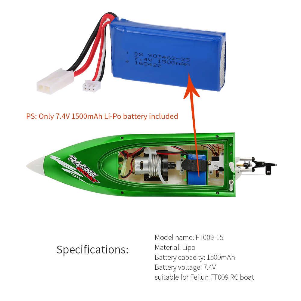 Оригинальный FT009 7,4 В 1500 мАч Li-Po батарея лодка запасная часть для Feilun FT009 RC лодка