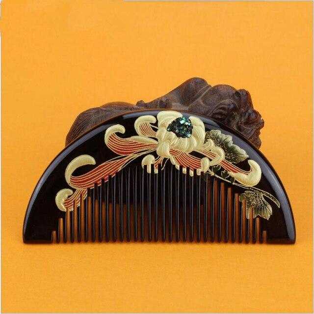 Hot sale 1pcs boxwood handmade comb Wood Hair Combs makeup Head Massager Antistatic Wooden brush best gift