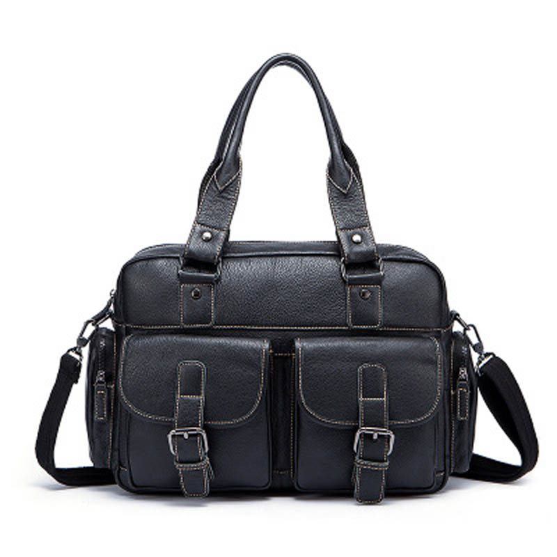 YISHEN Genuine Cowhide Leather Business Vintage Men Handbags Shoulder Crossbody Bags Solid Male Totes Messenger Bags MLT8888 hands free 12 speed male electric vibrating masturbator cup realistic pussy vagina masturbation cup sex toy360369