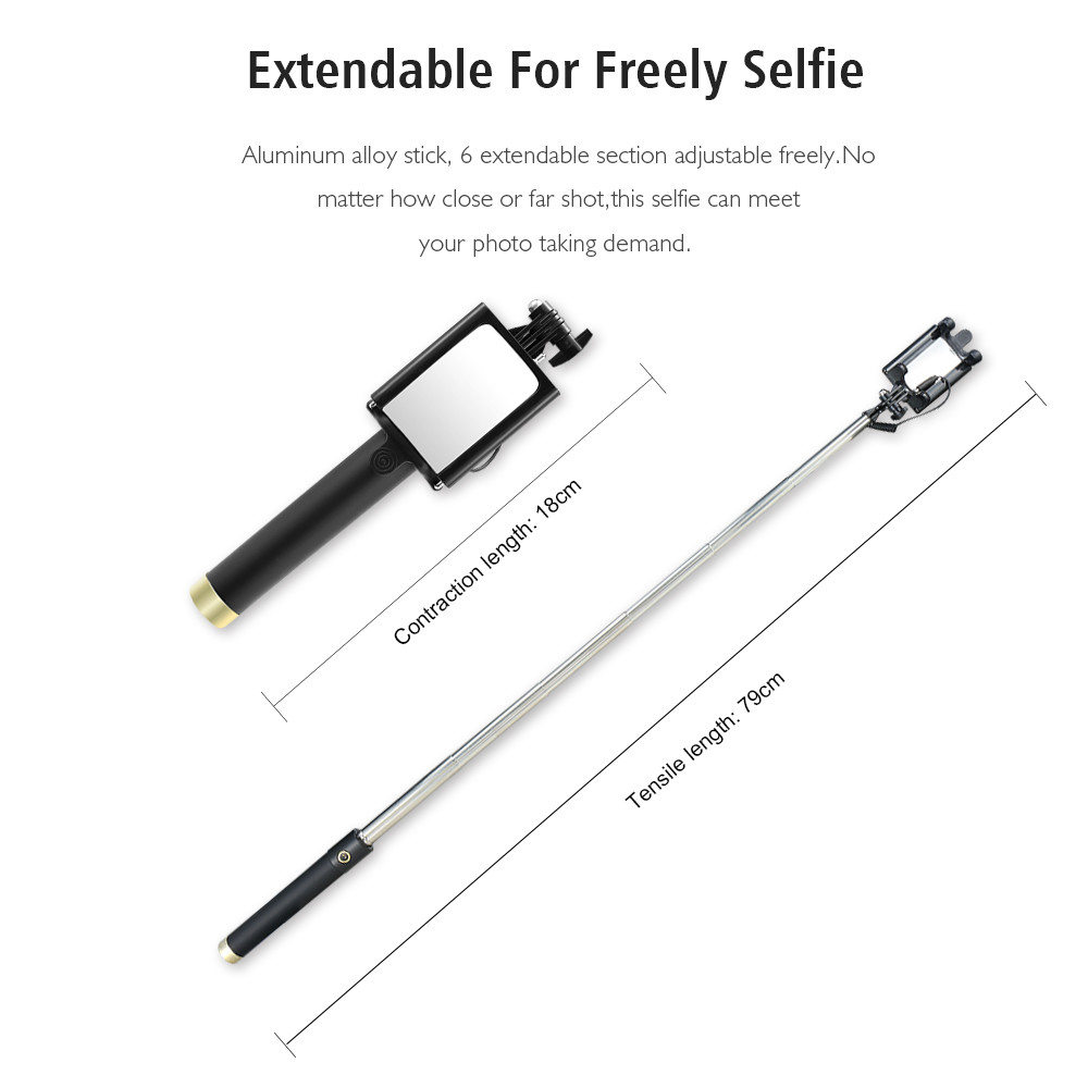 selfie stick for iphone picture more detailed picture about raxfly selfie stick monopod wired. Black Bedroom Furniture Sets. Home Design Ideas