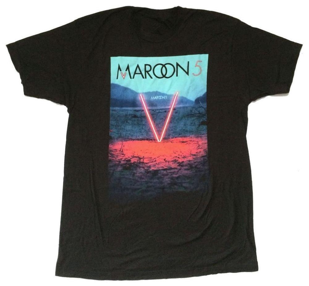 Plain T Shirts Crew Neck Men Short-Sleeve Tall Maroon 5 Red Desert V Pop Colors T Shirt