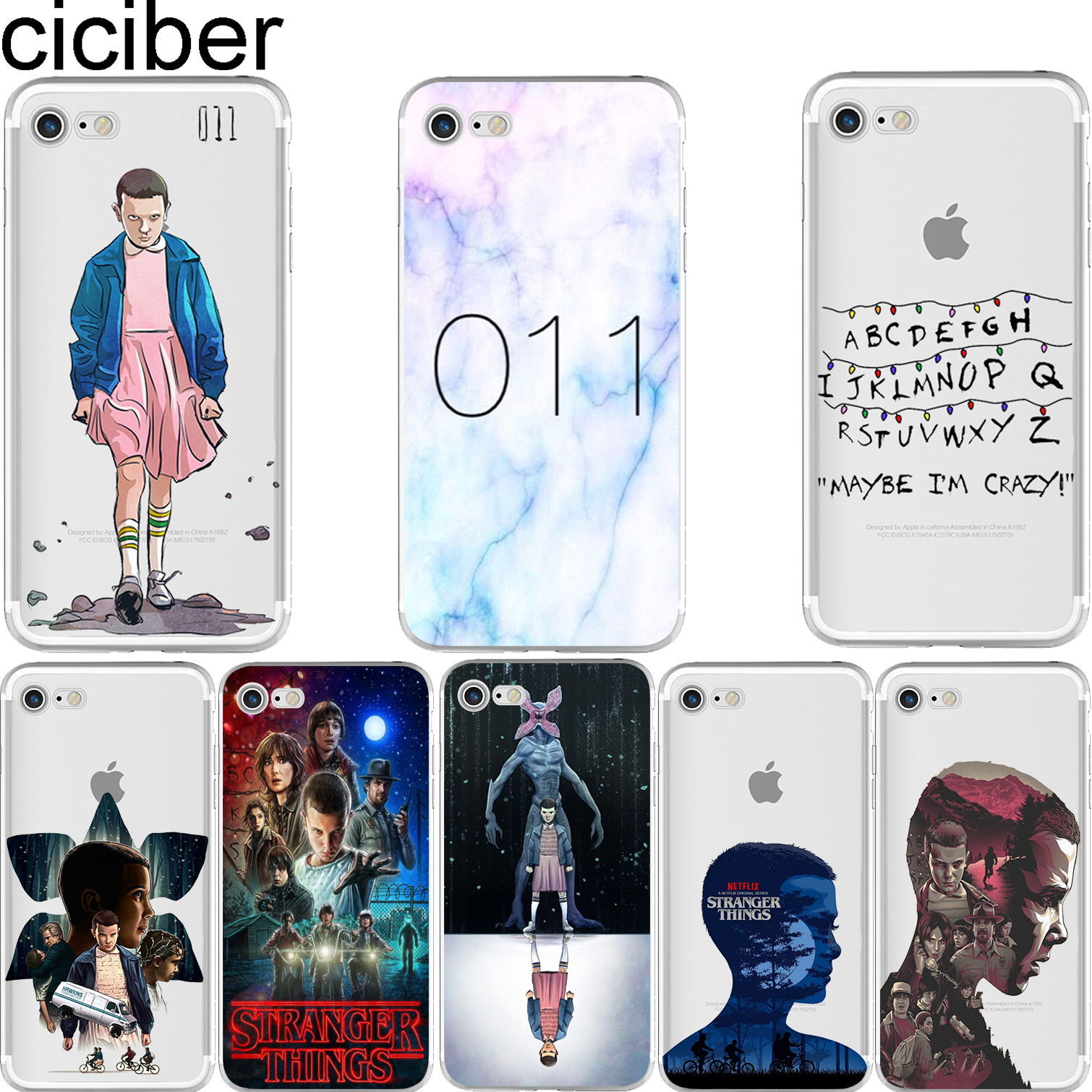 ciciber TV <font><b>Stranger</b></font> <font><b>Things</b></font> Soft Silicon <font><b>Phone</b></font> <font><b>Cases</b></font> Cover for <font><b>IPhone</b></font> 11 Pro Max <font><b>XR</b></font> XS Max 6 6S 7 8 Plus 5S SE X Capinha image