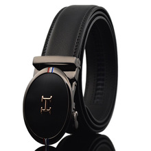 PU Leather Mens Belts Automatic Buckle Fashion For Men Business Popular Male Brand Black Luxury