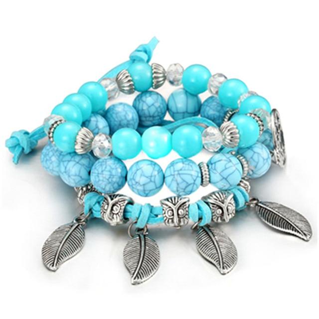 Bracelet Homme Turquoise Argent